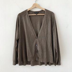 Eileen Fisher bronze buttoned cardigan